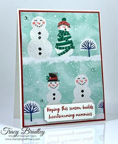 Snowman Season - Stamping With Tracy Card Kit, I Card, Diy Paper, Paper Crafts, Fun Fold Cards, Heartfelt Creations, Christmas Cards, Christmas Ideas, Snowmen