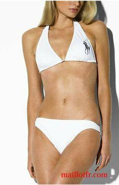 Maillot de bain Femme Ralph Lauren 0045 Summer Bikinis, White Bikinis,  Women Swimsuits, a17aa7294cc9