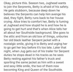 This has to happen! Omg,  I really want Betty and Jughead to stay together. .. I ship bughead with all my heart.