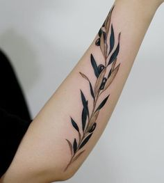 Tattooist Doy olive branch tattoo