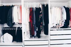 Walk in Closet Guest Room PAX Ikea White interior