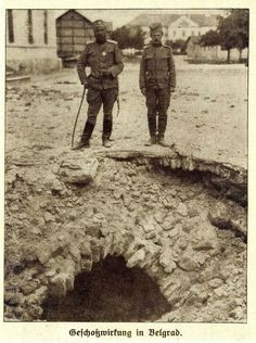 Bombardovanje 1914 - After bombing of Belgrade 1914, WWI