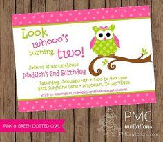 Cute Owl birthday party invitation  1.00 by PaperMonkeyCompany, $1.00