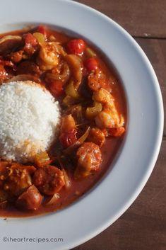 Shrimp & Sausage Creole | I Heart Recipes Creole Recipes, Cajun Recipes, Seafood Recipes, Cooking Recipes, Healthy Recipes, Dishes Recipes, Simple Recipes, Pasta Recipes, Healthy Food