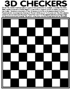 checkers coloring page