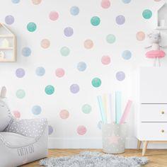 Pastel Girls Room, Pastel Bedroom, Pastel Walls, Pastel Nursery, Girls Room Paint, Girl Bedroom Walls, Girl Bedroom Designs, Bedroom Ideas, Girl Rooms
