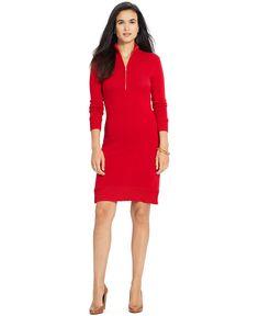 Lauren Ralph Lauren Half-Zip Sweater Dress