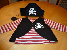pirate costume for kids - If your kid still hasn't got a Halloween outfit, this tutorial might give you an easy idea for a last minute DIY PIRATE costume.
