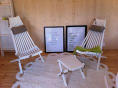 EcoChair and Lilli-rahi BIRCH, lighter visible pattern (painted white) Outdoor Chairs, Outdoor Furniture, Outdoor Decor, Barcelona Chair, Painting Patterns, Lighter, Birch, Home And Garden, Wood