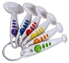 6 Piece Measuring Spoon Set The Curious Chef Offers Pas A Fun Way To Teach Kids About Fractioneasurement