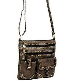 Black and Brown Fashion Body Purse