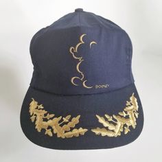 Vintage Disney Mickey Mouse Trucker Hat Ball Cap Gold Leaf Scrambled Eggs  USA Made by TraSheeWomen 4883a1ef4f74