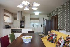 modern white kitchen in Prague