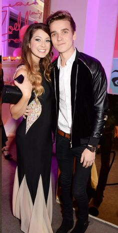 Zoella and Joe at zoella beauty launch party