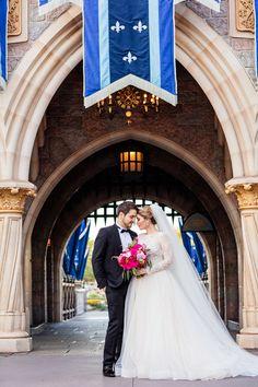 Lori & Jorge's Disneyland bridal portrait session
