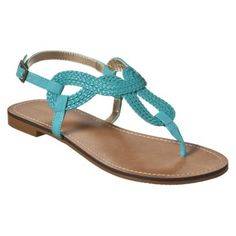 The cheap alternative to Stuart Weitzman :) Women's Merona® Emeline Braided Flat Sandals Turquoise. I have those, they are comfy and super cute for a beach wedding