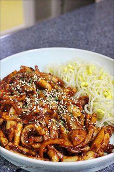 [오징어 보쌈] 맛있는 오징어보쌈 만드는 법 – 레시피   다음 요리