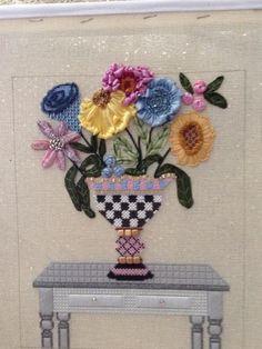 Sew Much Fun's Classy Vase stitched by Debra Wallerstein