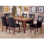 Coaster Furniture - Marble 5 Piece Dining Set - 120311-4077BLK-5set  SPECIAL PRICE: $873.99