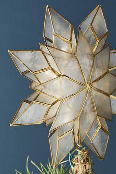 Capiz Star Light-Up Tree Topper
