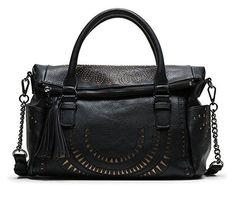 #Desigual Tasche - Modell Bols Passion Loverty. Muster: ethnisch, exotisch, schwarz.