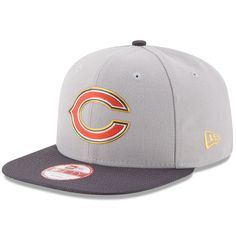 c35816350299a Chicago Bears New Era Gold Collection Original Fit 9FIFTY Snapback  Adjustable Hat - Gray Graphite