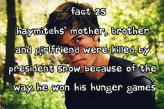 the hunger games fact - Haymitch