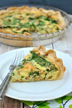 Sausage and Spinach Quiche: easy shortcut recipe that will impress your family and friends at breakfast!