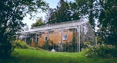 Couple builds beautiful glass greenhouse around entire home for all-year growing