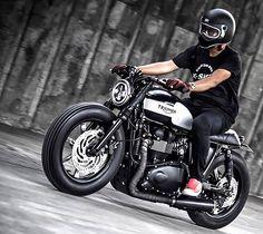 'Black Bulldog' Triumph Bonneville – K-Speed Customs.   There are literally…