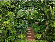 Bench In A Garden | Tuin | Pinterest | Gärten, Beautiful Und Gitter Garten Pavillon Tropische Pflanzen