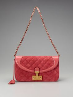 Suede Quilting Luisa Shoulder Bag by marc jacobs collection handbags on Gilt