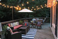 inviting deck idea for summer