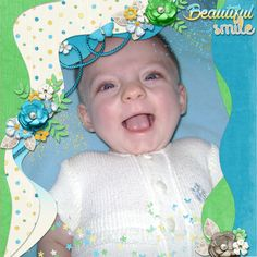 Beautiful Smile - digital scrapbook layout Credits: Life is Sweet 13 Templates and Beautiful Morning bundle by Neia Scraps at @Gingerscraps http://store.gingerscraps.net/Life-is-Sweet-13-Templates-By-Neia-Scraps.html http://store.gingerscraps.net/Beautiful-Morning-Bundle-by-Neia-Scraps.html