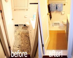 Bathroom Makeover Paint Tiles $500 bathroom makeover in 3 days | painted tiles, painting