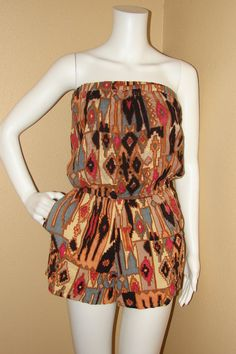 Angies Tribal Print Jumper/Outfit Size Medium - $18.00 Buy it from Threadflip.com very cute for summer