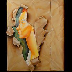 Modigliani in torn packaging