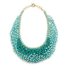 JUST FAB Turquoise Beaded Dreams Necklace