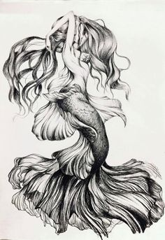 diy best tattoo images - Am schönsten Mermaid Tattoo Designs, Mermaid Drawings, Mermaid Tattoos, Mermaid Art, Mermaid Pinup, Tattoo Sketches, Tattoo Drawings, Body Art Tattoos, Art Sketches