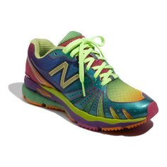 New Balance '890' Rainbow Running Shoe (Women) found on Polyvore.... I need these to wear to Pride!