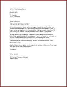 Simple resignation letter sample 1 month notice new calendar image result for formal resignation letter 1 month notice thecheapjerseys Choice Image