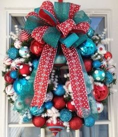 red turquoise christmas decorating ideas - Red White And Turquoise Christmas Decor