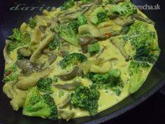 Brokolicovo-hlivové karí (fotorecept) - Recept