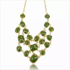 Beautiful green and gold statement necklace Love this piece! Anthropologie Jewelry Necklaces