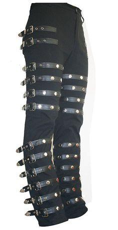 Michael Jackson Punk Classic BAD Concert Black Pants Trousers Cosplay Costume