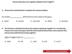 CogAT practice test question first grade for gifted and talented ...