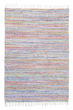 Ellos Home Trasmatta Tampa 140x200 cm Rosa, Multi, Blå, Grön - Bomulls- & trasmattor | Ellos Mobile