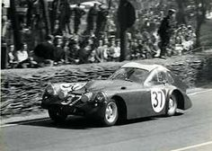 """The 1953 Bristol """"batmobile"""" didn't make it. and its sister had the same problems: rear wheels locked, car drifted off road, car caught fire. 1954 & 55 would be better years. Sport Cars, Race Cars, Motor Sport, Bristol Cars, 24 Hours Le Mans, Grand Luxe, Vintage Race Car, Vintage Auto, Gilles Villeneuve"""