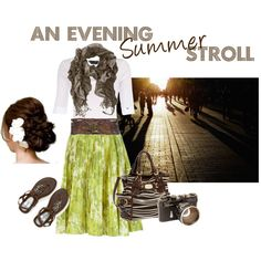 Summer Stroll, created by modestlyme on Polyvore