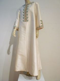 1stdibs.com | I. Magnin 60s Silk Embroidered Caftan